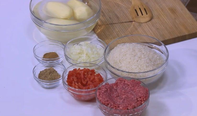 مقادير طريقة عمل أرز باللحمة المفرومة و البطاطس