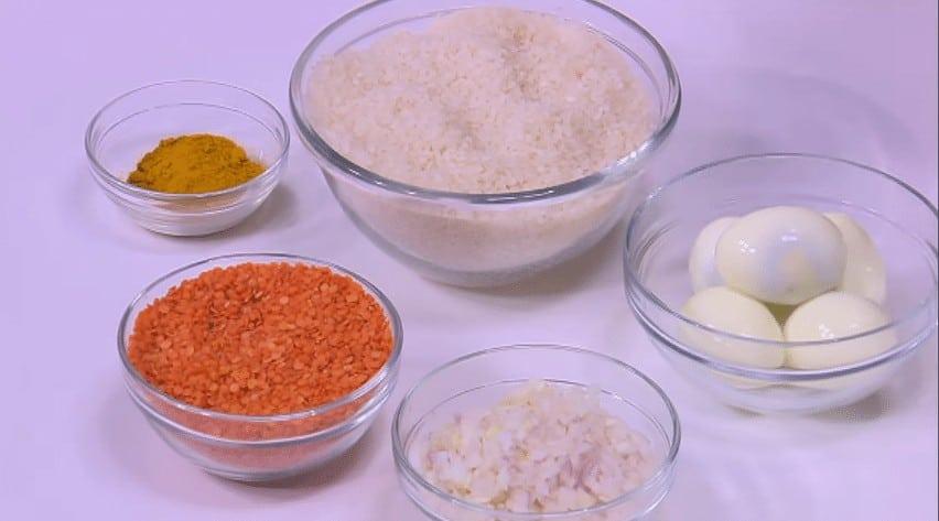 مقادير طريقة عمل أرز بالعدس الأصفر و البيض