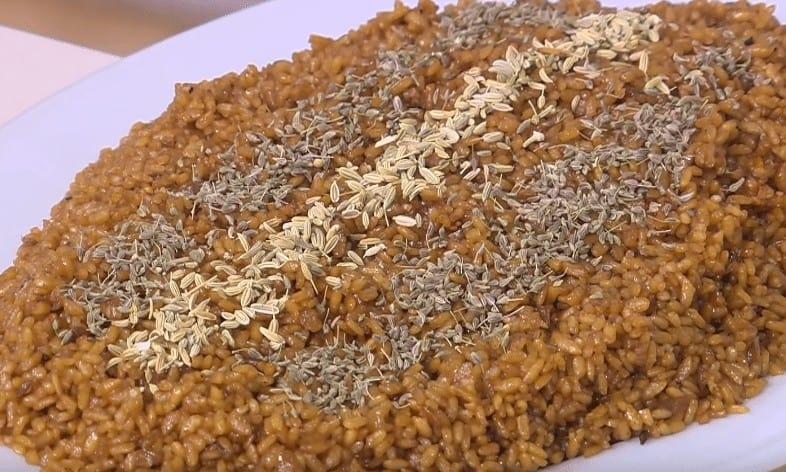 طريقة عمل أرز سمك بني