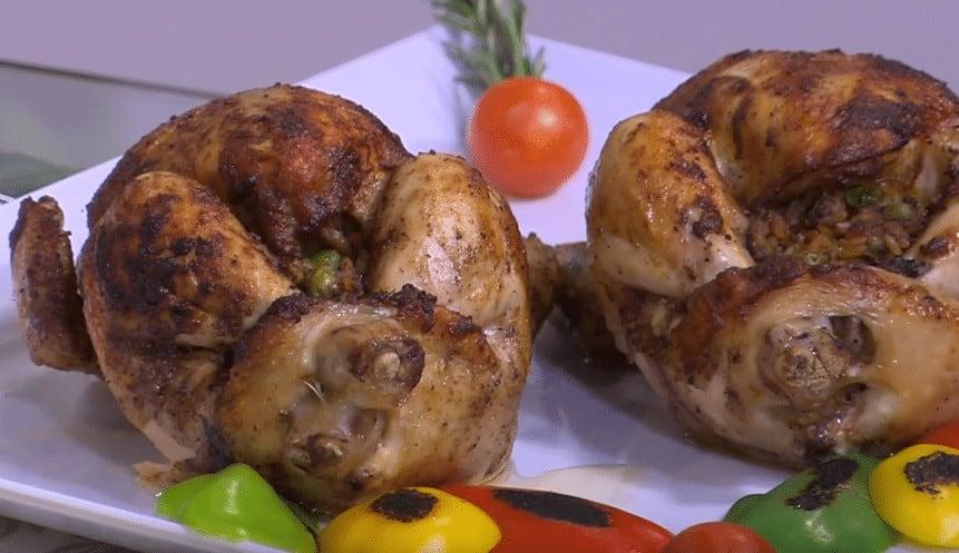 طريقة عمل دجاج محشي لسان عصفور