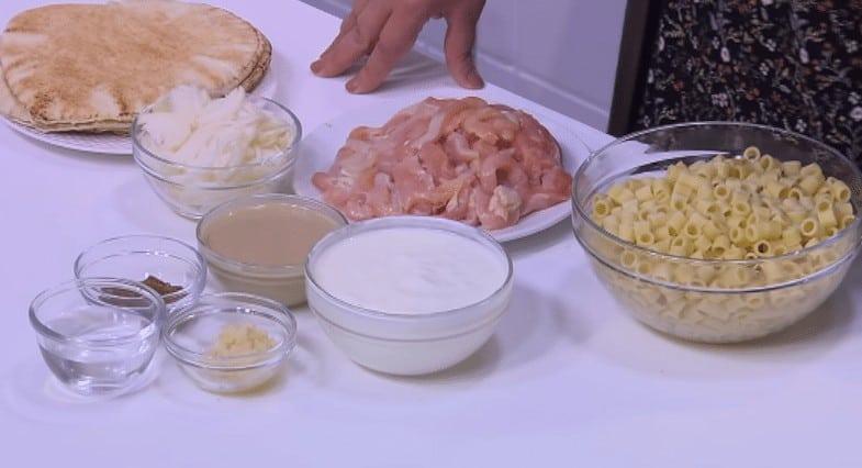 طريقة عمل فتة مكرونة بالدجاج